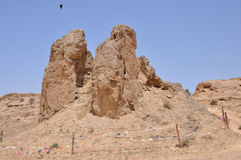 De ruïnes van de Grote Muur Stock Foto's