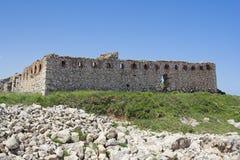De ruïnes van de vesting Stock Afbeeldingen