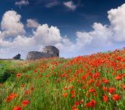 De ruïnes van de vesting Genoese Royalty-vrije Stock Afbeelding