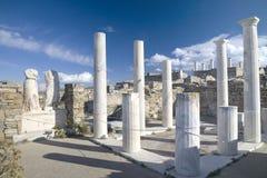 De Ruïnes van Delos Stock Afbeelding