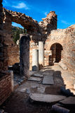 De Ruïnes van Ephesus Stock Foto