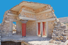 De ruïnes van Knossos, Kreta, Griekenland Royalty-vrije Stock Afbeelding