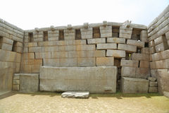 De Ruïnes van Picchu van Machu in Peru Royalty-vrije Stock Foto