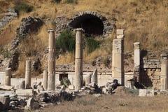 De Ruïnes van Turkije Ephesus Stock Foto