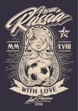 De Rusia con amor Imagen de archivo libre de regalías