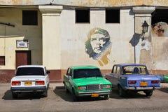 De Russische auto's van Cuba stock foto's
