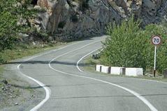 De Russische die route M52 (R256), ook als Chuya-Weg wordt bekend Stock Foto's