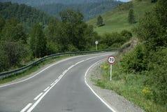 De Russische die route M52 (R256), ook als Chuya-Weg wordt bekend Stock Fotografie