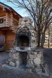 De Russische en oude oven Stock Foto