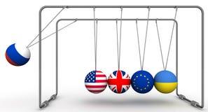 De Russische Federatie als factor in de dynamica van geo - politiek Het concept vector illustratie