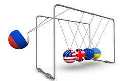 De Russische Federatie als factor in de dynamica van geo - politiek Het concept stock illustratie