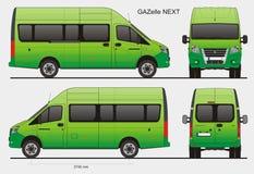 De Russische Gazelle Volgende LWB van de Passagiersbus Stock Foto's