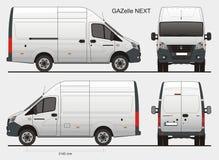 De Russische Gazelle Volgende MWB van de Ladingsbus Royalty-vrije Stock Afbeeldingen