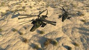De Russische het vechten helikopter royalty-vrije illustratie