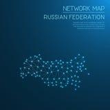 De Russische kaart van het Federatienetwerk Royalty-vrije Stock Afbeeldingen