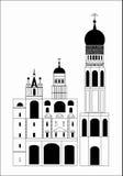 De Russische kerk Royalty-vrije Stock Afbeeldingen