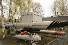 De Russische Militaire Antilanceerinrichting van de Boottorpedo Stock Afbeeldingen
