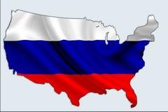 De Russische overheid mengde zich in U van 2016 S Presidentsverkiezing vector illustratie