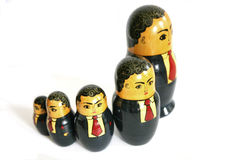 De Russische poppen van de zakenman Stock Afbeeldingen
