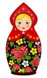 De Russische poppen van traditiematryoshka Stock Afbeeldingen