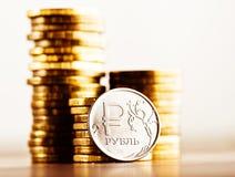 De Russische roebel Royalty-vrije Stock Afbeeldingen