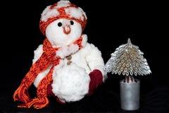 De Russische Sneeuwman van de Oudejaarsavond Stock Afbeelding