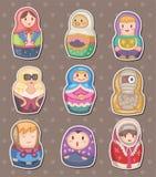 De Russische stickers van het beeldverhaal Stock Foto's