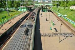 De Russische trein van de hoge snelheidspassagier Stock Foto