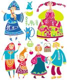 De Russische Vector van Karakters Royalty-vrije Stock Foto's