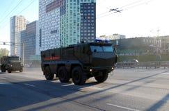 De Russische veelvoudig-doelpantserwagen van de verhoogde veiligheid van 'tayfun-K ', het is kamaz-63968 royalty-vrije stock fotografie