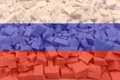 De Russische vlag vliegt in de wind stock fotografie