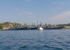 De Russische Vloot van de Zwarte Zee in de haven royalty-vrije stock foto's