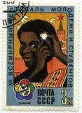 De Russische zegel van de de jeugdstudent Royalty-vrije Stock Foto's