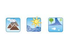 De rust van de kleur pictogrammen Royalty-vrije Stock Afbeeldingen