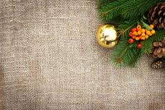 De rustieke achtergrond van Kerstmis Stock Afbeelding