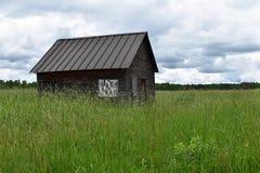 De rustieke cabine van het het noordenhout Royalty-vrije Stock Foto