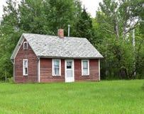 De rustieke cabine van het het noordenhout Stock Fotografie