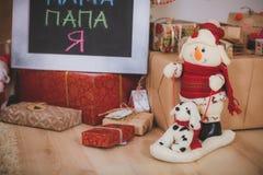 De Rustieke stijl van het Kerstmisspeelgoed Royalty-vrije Stock Fotografie