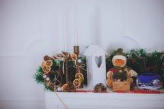 De Rustieke stijl van het Kerstmisspeelgoed Royalty-vrije Stock Foto's
