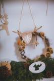 De Rustieke stijl van het Kerstmisspeelgoed Stock Afbeelding