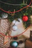 De Rustieke stijl van het Kerstmisspeelgoed Stock Afbeeldingen