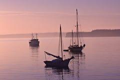 De rustige Ochtend van de Jachthaven Royalty-vrije Stock Foto's