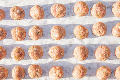 De ruwe Ballen van het Vlees Stock Fotografie