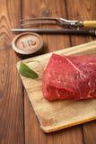 De ruwe filet van het rundvleesvlees Stock Afbeeldingen