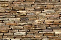 De ruwe geweven muur leidde tot het gebruiken van vlakke rotsen royalty-vrije stock foto