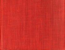 De ruwe heldere rijke rode stof van de Skanirovaniyatextuur - natuurlijk canvasgeteerd zeildoek royalty-vrije stock afbeelding