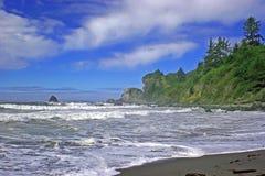 De ruwe kust van Californië. Stock Foto