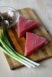 De ruwe lapjes vlees van tonijnvissen Stock Fotografie