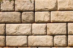 De ruwe Muur van het Blok Royalty-vrije Stock Fotografie