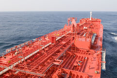 De ruwe oliecarrier van de tanker schip Stock Foto